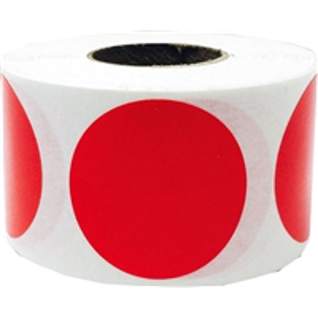 Red Circle Dot Stickers, 1.25 Inches Round, 500 Labels on a (Circle Rolo)