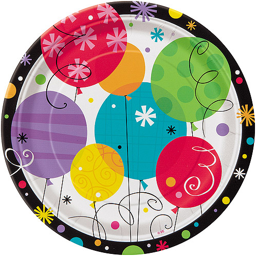"7"" Breezy Birthday Paper Dessert Plates, 8ct"