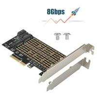 EEEkit M.2 NGFF to Desktop PCIe x4 x8 x16 NVMe SATA Dual SSD PCI Express Adapter Card