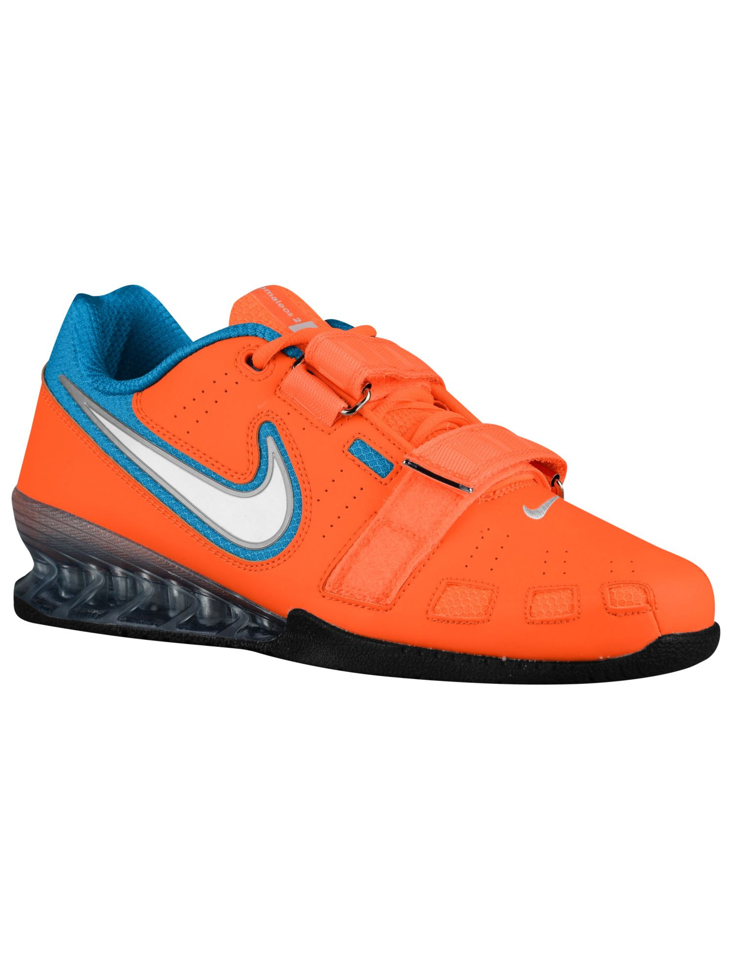 8da0b8aa103a ... coupon code for nike romaleos ii power lifting mens training shoes  total orange white blue lagoon ...