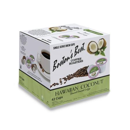 Boston's Best Hawaiian Coconut Flavored Coffee, Single Serve Cups, 42 (Best Favors)