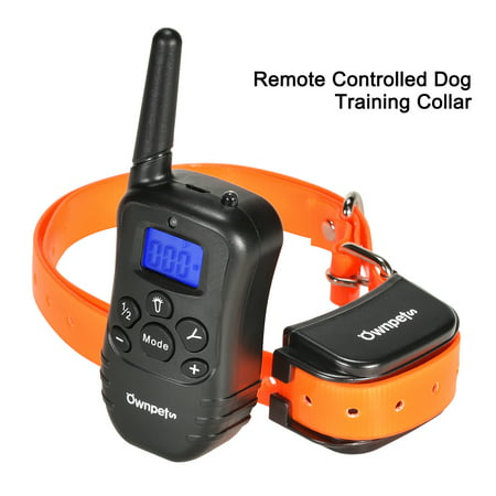Ownpets Dog Training Collar Pet Trainer 100 Levels Static Shock, Rechargeable Waterproof 330 Yard with Remote