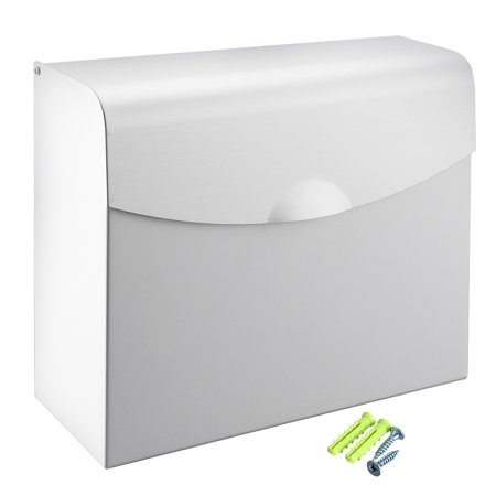 Uxcell 240mmx90mmx200mm Space Aluminum Lightweight Paper Holder Box w Cover Silver Tone Weight Box Paper
