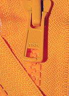 ZipperStop YKK® #5 Molded Plastic Separating ~ Orange 523 ~ Jacket Zipper
