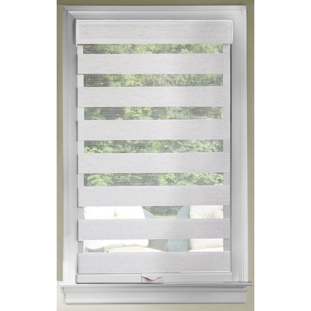 Cordless Window Shades Celestial Sheer Dual Double Layered Light Filtering Adjustable Roman Roller Shade