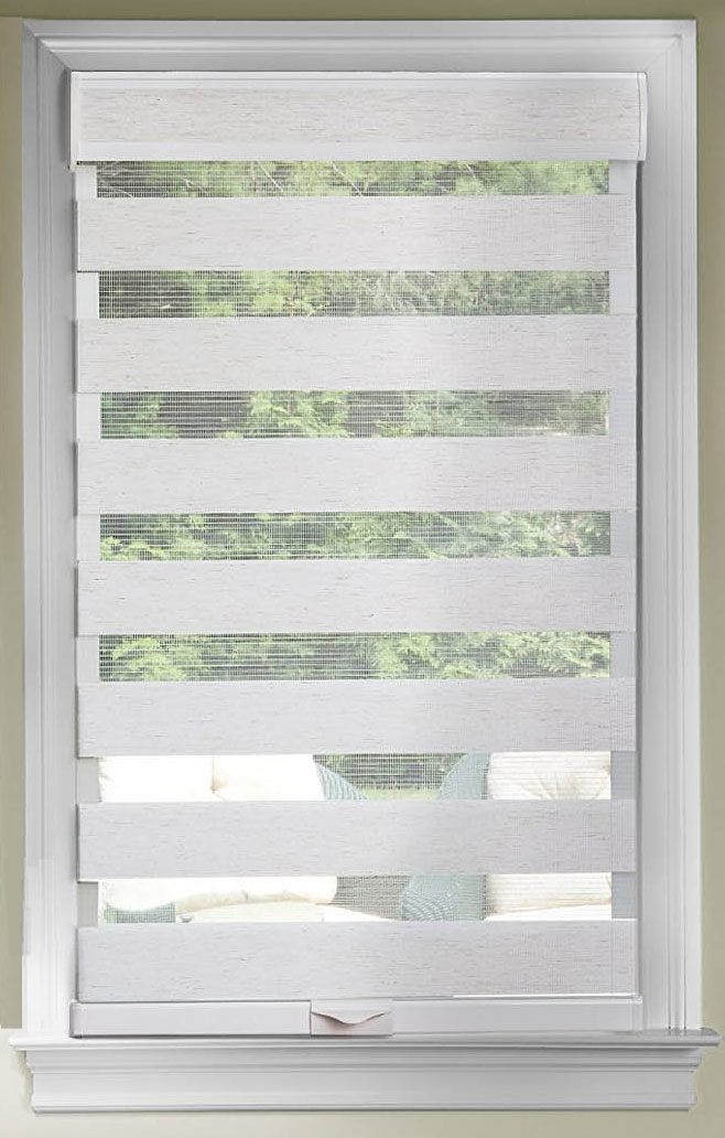 Gentil Cordless Window Shades Celestial Sheer Dual Double Layered Light Filtering  Adjustable Roman Roller Shade