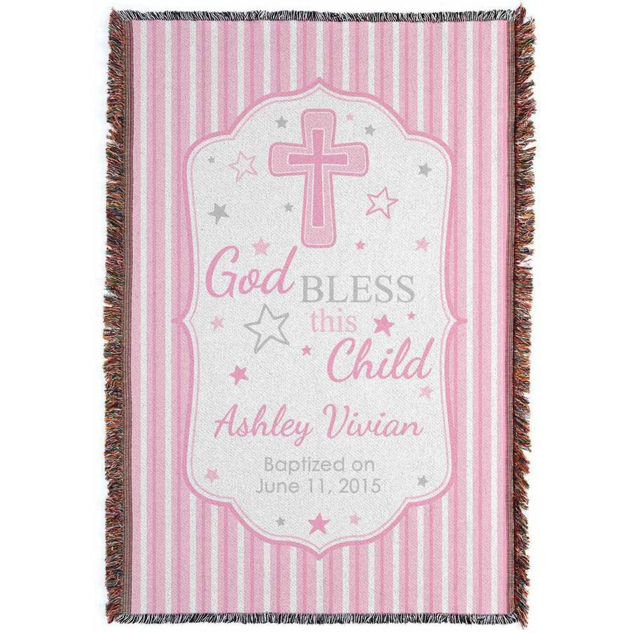 Personalized God Bless This Child Throw, Girl