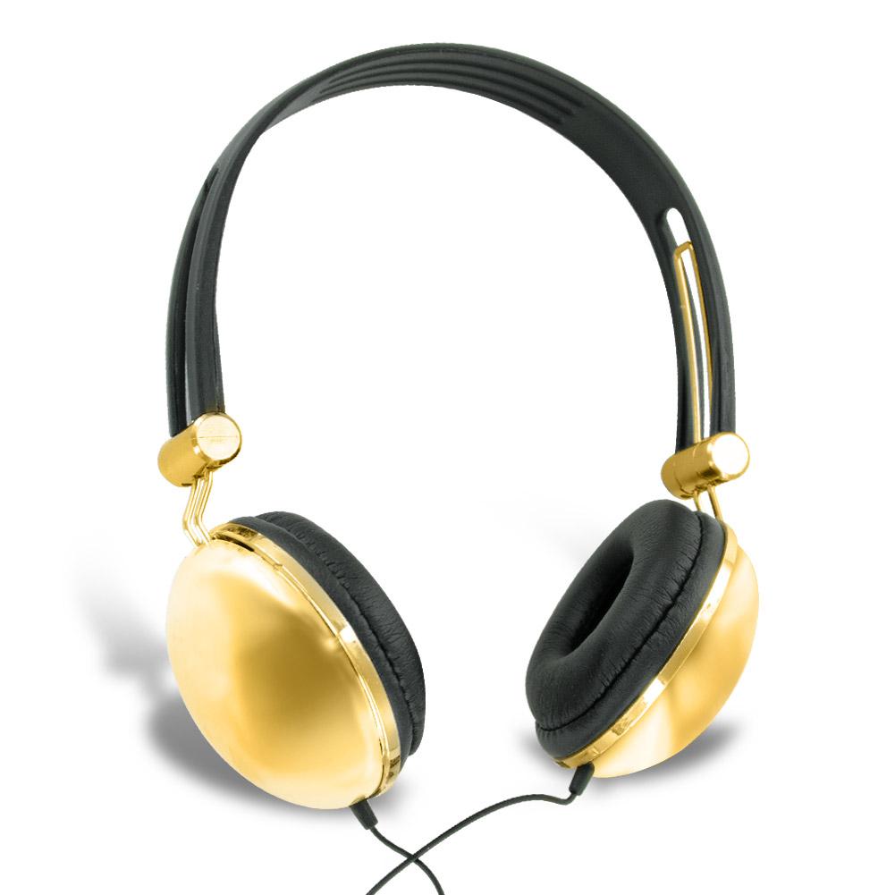 Ankit Fat Bass Over the Head Headphones (Metallic Gold)