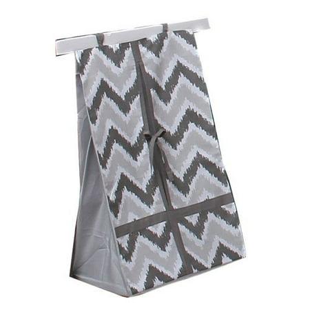 Bacati Ikat Diaper Stacker, Zigzag Grey