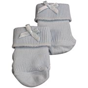 Tic Tac Toe - Baby Boys Ribbed Bootie Sock BLUE / 6 - 12 Months