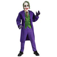 Joker Costume Boys Deluxe Child Kids Youth Batman Outfit