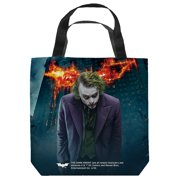Dark Knight Trilogy Agent Of Chaos Tote Bag White 13X13