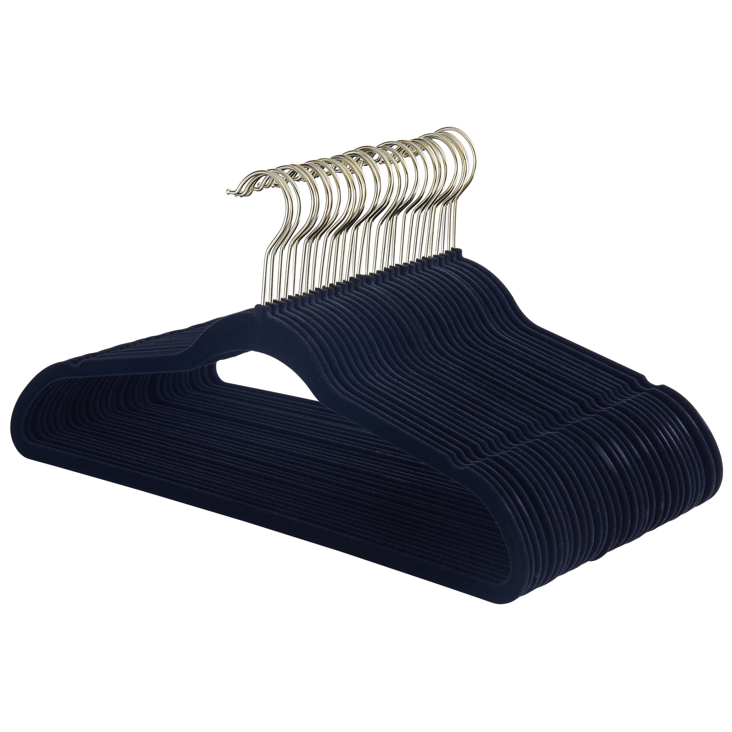 Blue Children Kids Hangers Velvet Slim and Sturdy Design Non-Slip Pack of 30