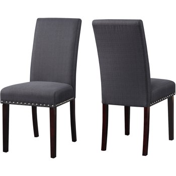 2-Pk DHI Nice Nail Head Upholstered Dining Chair