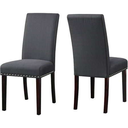 DHI Nice Nail Head Upholstered Dining Chair, Set of 2, Multiple Colors