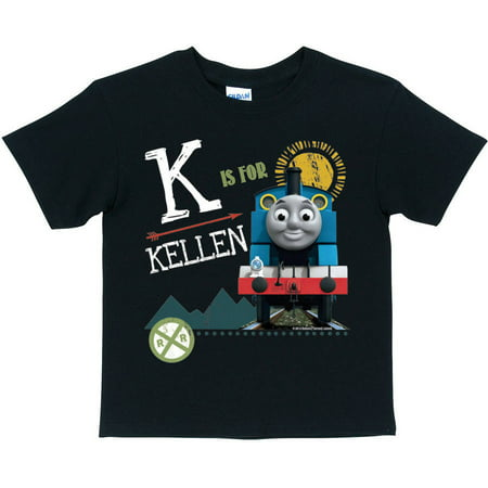 Personalized Thomas and Friends Black Chalkboard Toddler Boy Initial