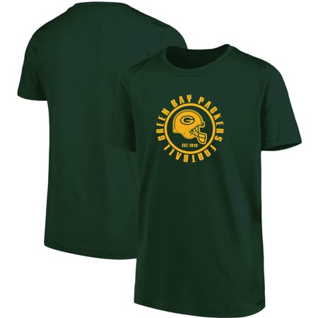 Youth Green Green Bay Packers Circle T-Shirt (Green Bay Packers Party Decorations)