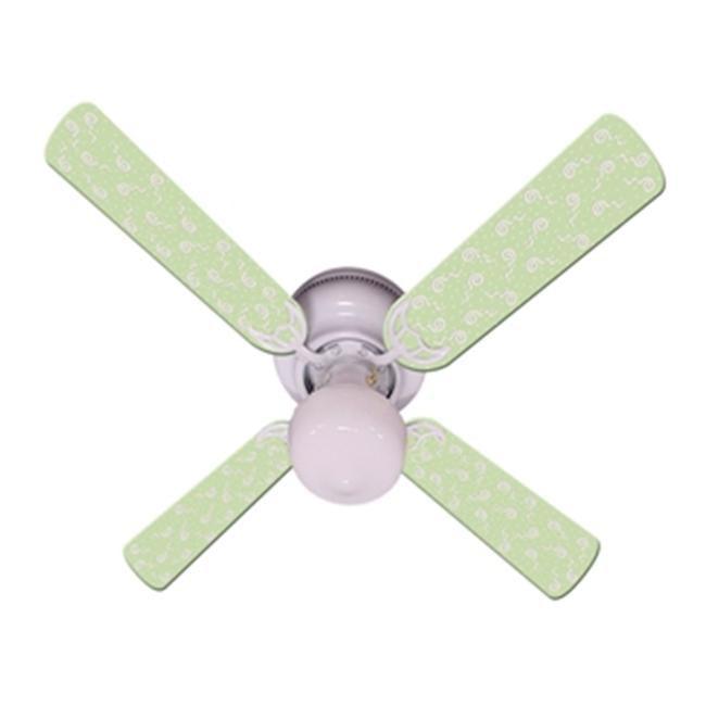 Ceiling Fan Designers 42FAN-IMA-KGPP Kids Green Party Pops Ceiling Fan 42 In. by Ceiling Fan Designers