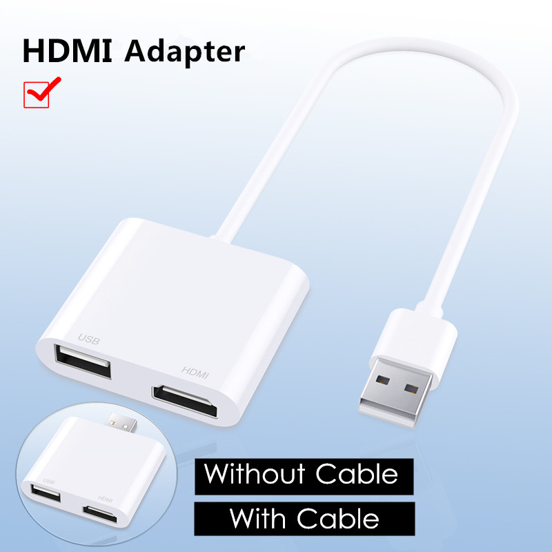 iDragon 2-in-1 USB 2.0 to   USB 2.0 Ad ter 1080p Converter Connect to TV Monitor Display S n For Windows 7/8/10 Computer iOS Android Smartphone