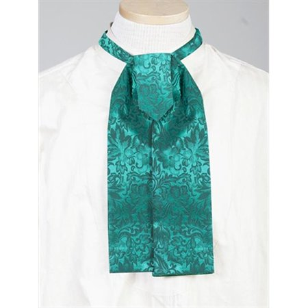 scully 535300-hun-one mens wahmaker silk adjustable old west jacquard tie, hunter green - one size