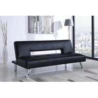 Kaylin Upholstered Sofa Bed With Tufted Seat Black