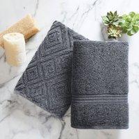 2-Pieces Better Homes & Garden Cotton Diamond Bath Towel