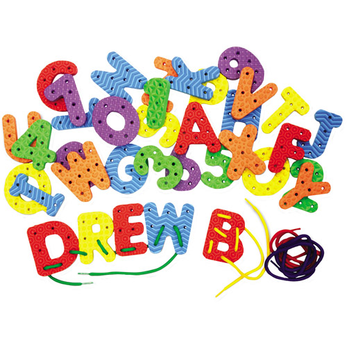Creativity Street WonderFoam Lacing Letters and Numbers