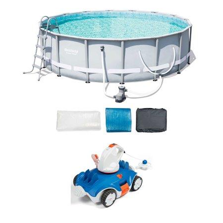 Bestway 16-Foot Frame Pool Set + Aquatronix Autonomous Pool Cleaning (Best Way To Clean Your Penis)