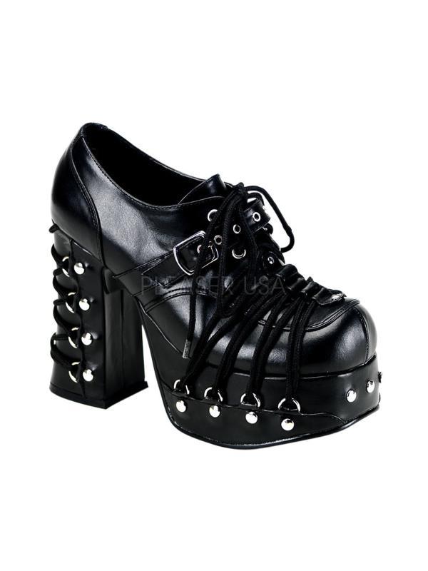 CHA35/B/PU Demonia Womens Platform Sandals & Shoes Womens Demonia BLACK Size: 8 3fc59f
