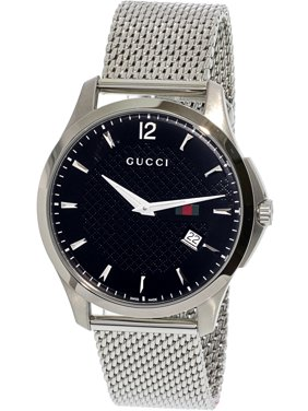 339d7a9933d Product Image Men s Timeless YA126308 Silver Stainless-Steel Swiss Quartz  Dress Watch. Gucci