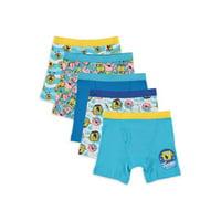 SpongeBob SquarePants Boys Underwear, 5 Pack Boxer Briefs, Sizes 6 - 8