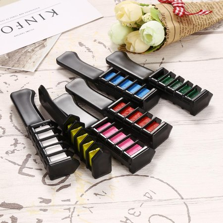 Hair Chalk, Temporary Hair Color Comb for Hair Chalk Salon - Non-Toxic and Safe for Kids, No Mess Works on All Hair Colors for Halloween Christmas Party Cosplay DIY - Dying Hair White For Halloween