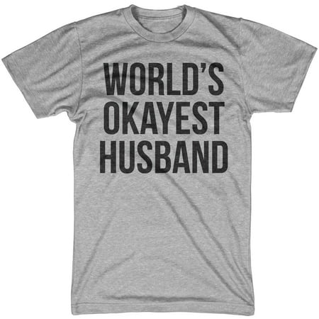 Mens World's Okayest Husband T shirt Funny Hilarious Gift For Married Guys - Hilarious Happy Halloween Memes