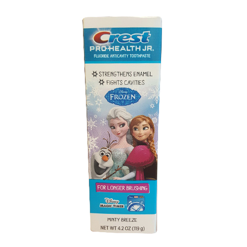 Crest Pro-Health Jr. Frozen, Fluoride Anticavity Toothpaste, Minty Breeze - 4.2 Oz, 2 Pack