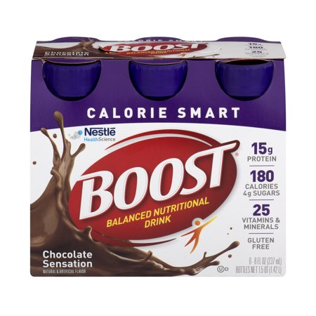 Boost Calorie Smart Chocolate Sensation Balanced Nutrition Drink 6 8 Fl  Oz  Bottles