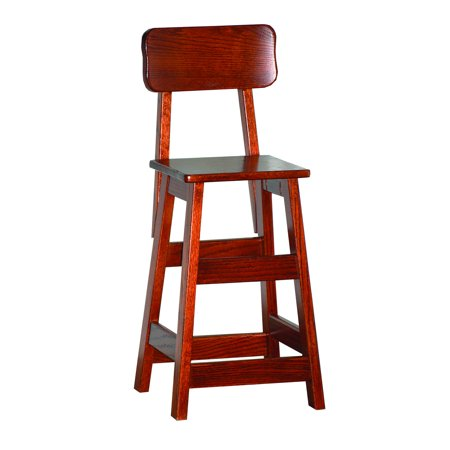 Furniture Barn USA™ Cherry Toddler's Kitchen / Dining Stool with Back ()