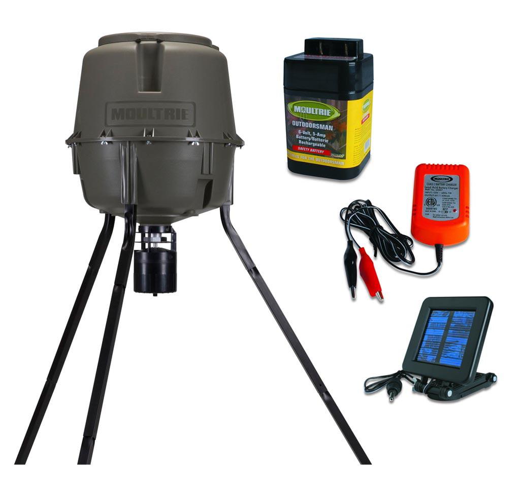 MOULTRIE 30 Gal Adjustable Height Deer Feeder + Solar