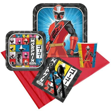 Power Rangers Ninja Steel Party Pack For 8 (Power Rangers Birthday Theme)