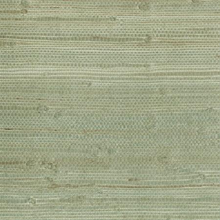 Kenneth James Myogen Golden Green Grasscloth Wallpaper Sample