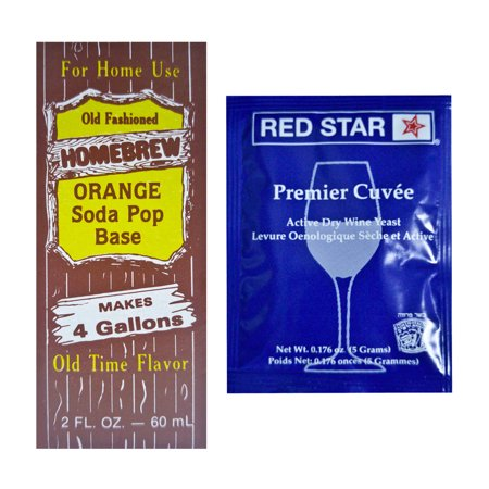 Homebrew Orange Soda Extract and Cuvee Yeast Kit Homemade soft