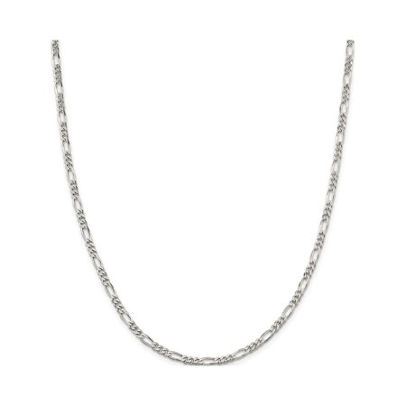 925 Sterling Silver 4mm Figaro Chain - image 5 of 5