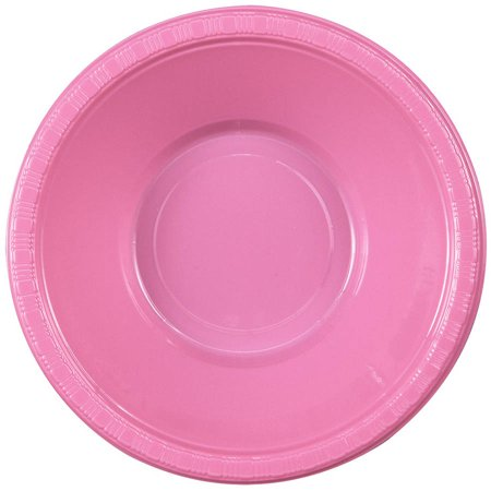 Candy Pink, Hot Pink, Plastic Bowls, 20pk