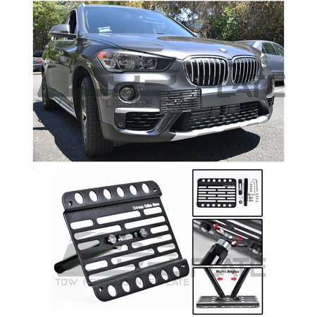 Extreme Online Store Replacement for 2016-Present BMW F48 X1 | EOS Plate Version 1 Mid Sized Front Bumper Tow Hook License Relocator Mount