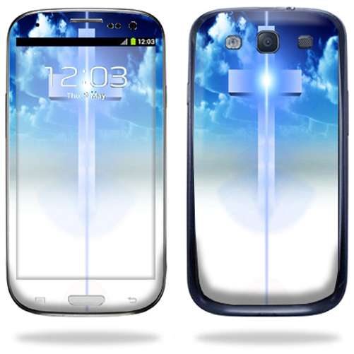 Mightyskins Protective Vinyl Skin Decal Cover for Samsung Galaxy S III S3 Cell Phone wrap sticker skins  Cross