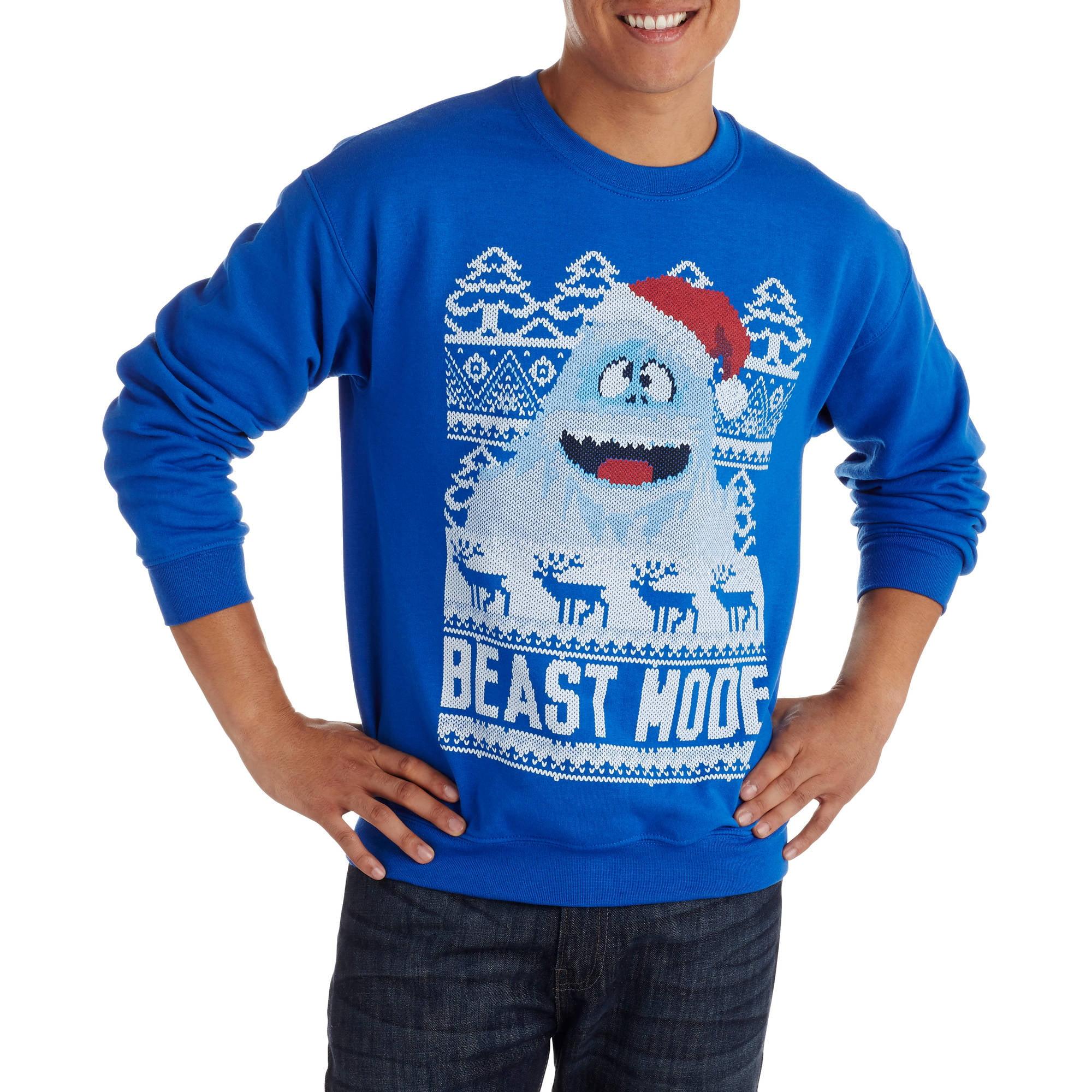 HOLIDAY - Beast Mode Men\'s Ugly Christmas Sweater - Walmart.com