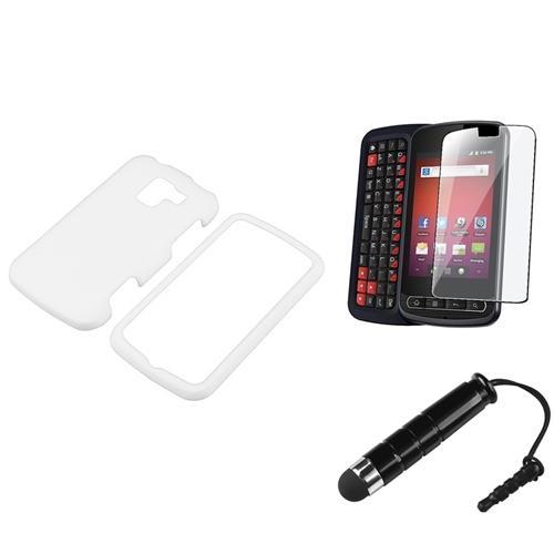 INSTEN Rubberized Solid White Color Hard Case Faceplate for LG Enlighten/Optimus Slider LS700/VS700 (Sprint/Verizon)