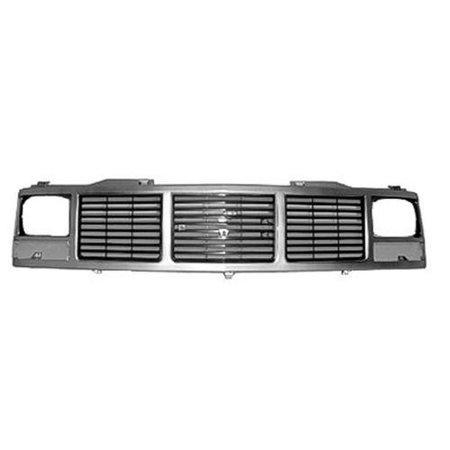 Gmc Suburban Grill - Silver Grill Assembly for GMC Pickup, Suburban, Yukon Grille GM1200325