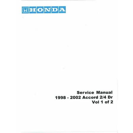 Bishko OEM Repair Maintenance Shop Manual Bound for Honda Accord 1998 -