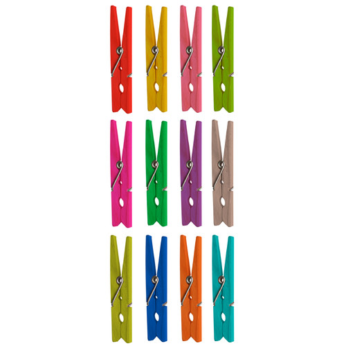 "Wallies Peel & Stick Clothespins, 22 decals 3"" x "" to 3"" x """