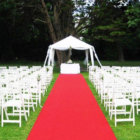 Moaere 40ftX3ft Hallway Wedding Aisle Runner Rug,Non-Skid (Non-Slip) Rubber Backing Red - Aisle Runner Carpet